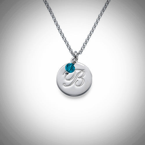 Children's Initial Necklace with Birthstone - Ciao Bella Boutique