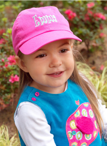 Hot Pink Kid's Cap - Ciao Bella Boutique