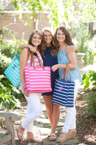 Striped Totes - 4 Colors - Ciao Bella Boutique