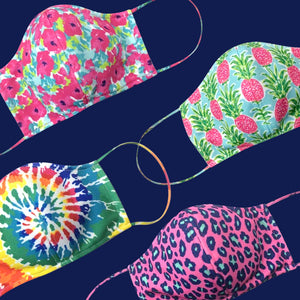 Adult Adjustable Face Masks - 12 Color Patterns - Ciao Bella Boutique