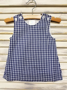 Gingham Jumper - Navy - Ciao Bella Boutique