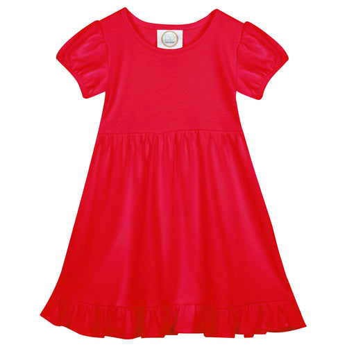 Girls STL Dress - White, Red, Navy - Ciao Bella Boutique