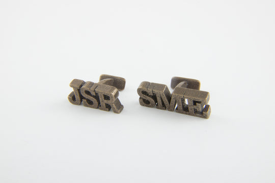 Gregson & Buck - Custom Monogram Cufflinks - Stainless Steel - Bronze