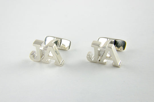 Custom Monogram Cufflinks - Sterling Silver 925