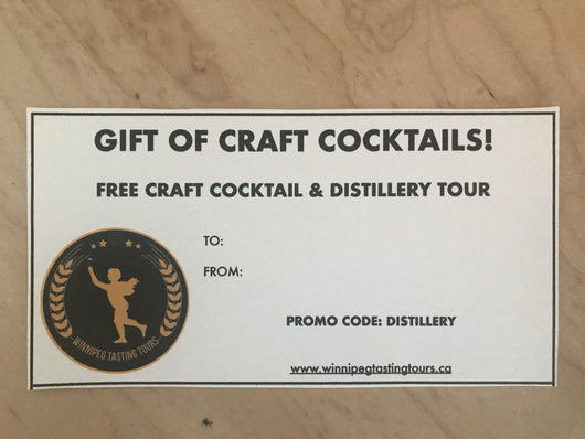 Cocktail & Distillery Gift Certificate