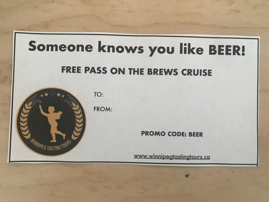 Brewery Tour Gift Certificate