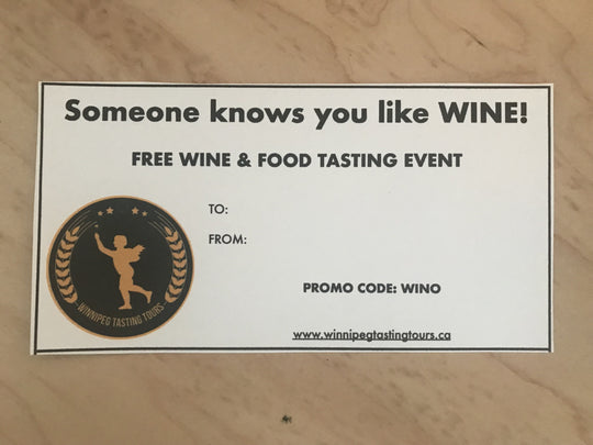 Wine & Food Tour Gift Certificate