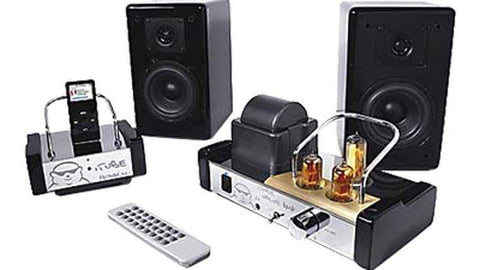 Fatman iTube ValveDock iPod Dock and Tube Amplifier with Speakers