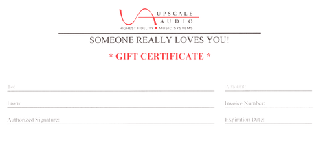 Upscale Audio Gift Certificates