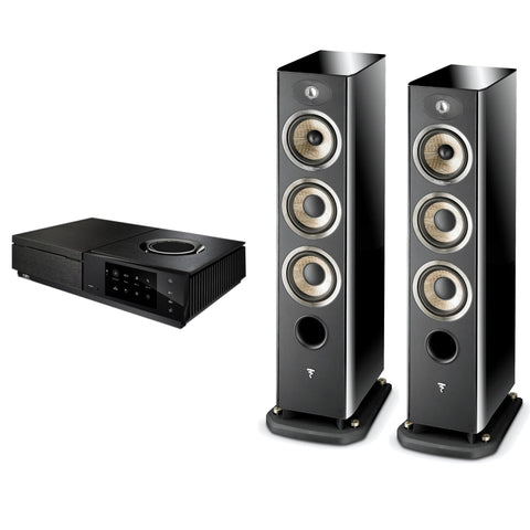 Focal Aria 926 (black) & Naim Uniti Star
