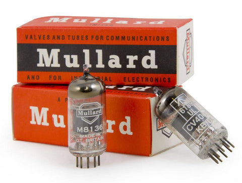Mullard M8136 / 12AU7 Wrinkle Glass Made in Great Britain