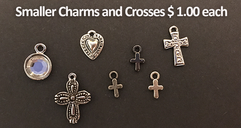Smaller Charms and Crosses