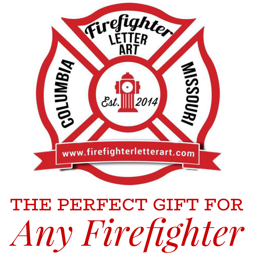 Firefighter Letter Art