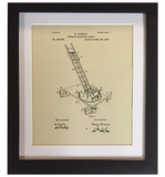 Original Patent Drawing: EXTENSION LADDER