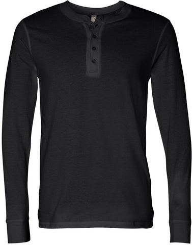 Bella & Canvas Unisex Jersey long sleeve Henley