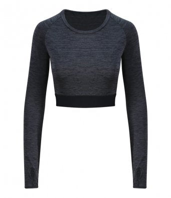 AWDis Cool Girlie Long Sleeve Crop Top
