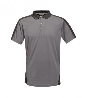 Professional Men/'s Contrast Coolweave Quick Wicking Polo Shirt Red