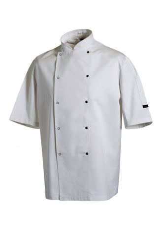 Dennys Chef's jacket short sleeve press stud