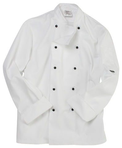 Dennys Long sleeve chef's jacket with removable studs
