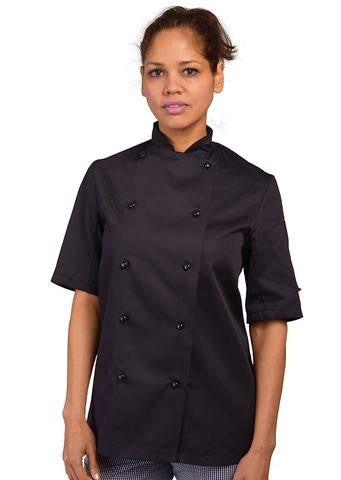 Dennys Chef's jacket short sleeve with stud button