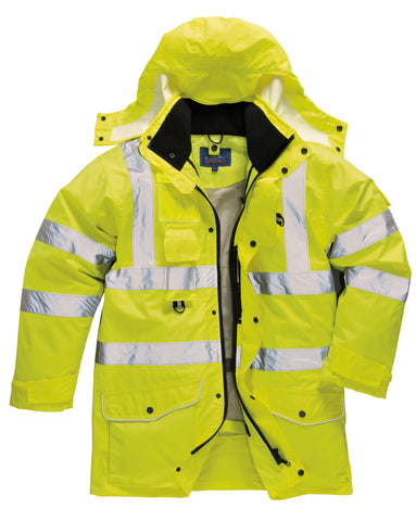 Portwest Hi-vis 7-in-1 traffic jacket