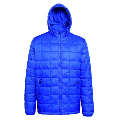 2786 Box quilt hooded jacket