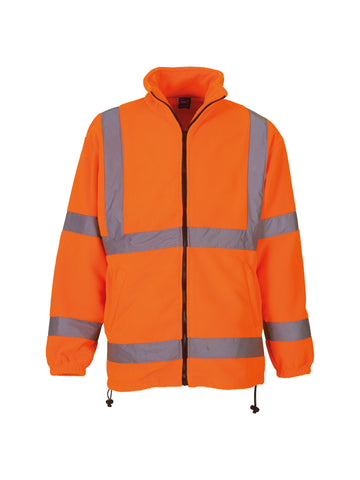 Hi-vis heavyweight fleece jacket