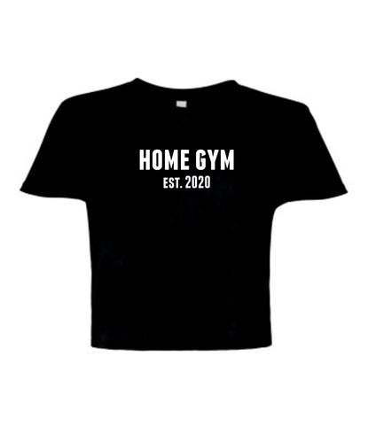 Ladies Cropped Flowy Home Gym Est. 2020 T-Shirt