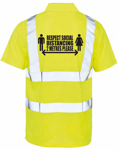 Social Distancing Hi Vis Polo Shirt