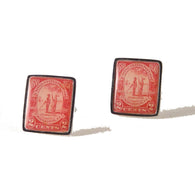 1931 CHARLESTON ISSUE  STAMP CUFFLINKS New Orleans Cufflinks