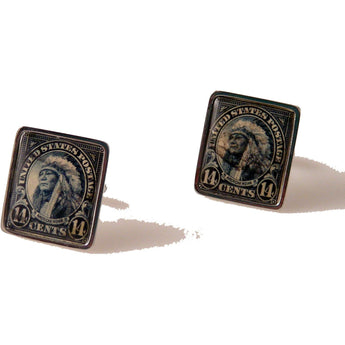 1931 AMERICAN INDIAN STAMP CUFFLINKS New Orleans Cufflinks
