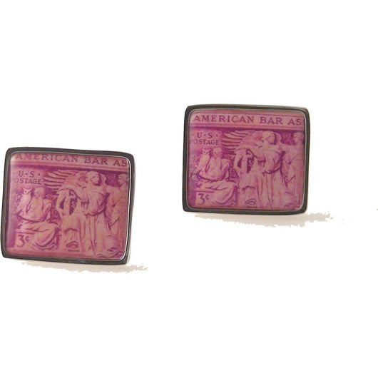 1953 AMERICAN BAR ASSOCIATION POSTAGE  STAMP CUFFLINKS New Orleans Cufflinks