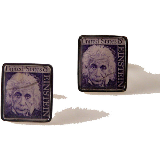 1968 ALBERT EINSTEIN POSTAGE STAMP CUFFLINKS New Orleans Cufflinks