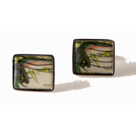 1971 TROUT  POSTAGE STAMP CUFFLINKS New Orleans Cufflinks