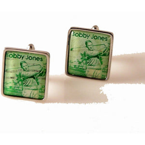 1981 BOBBY JONES POSTAGE STAMP CUFFLINKS New Orleans Cufflinks