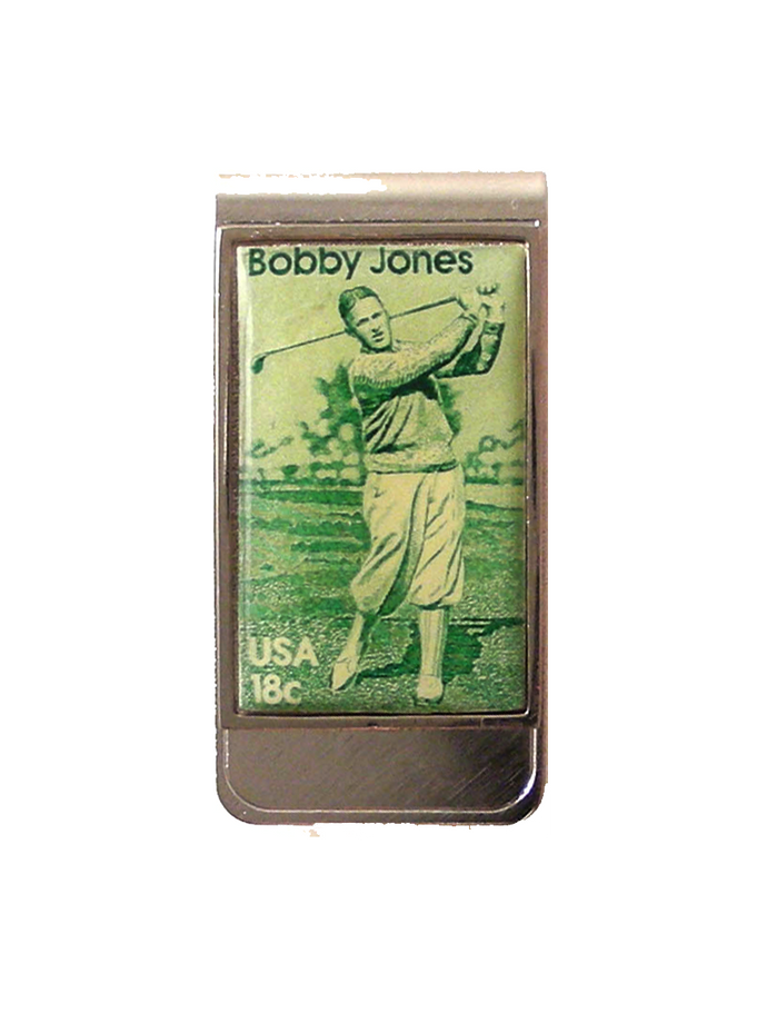 bobby jones stamp money clip new orleans cufflinks