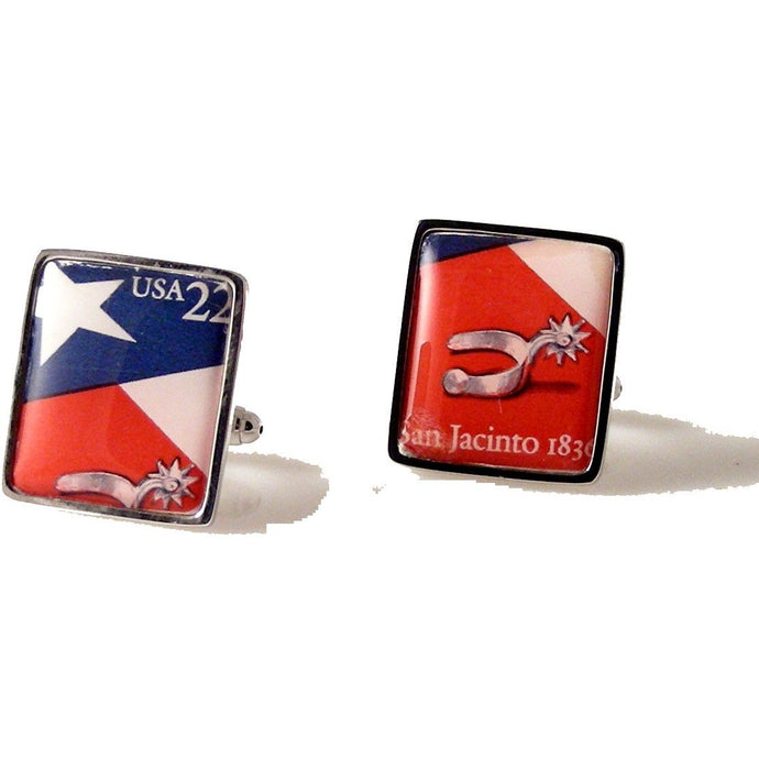 REPUBLIC OF TEXAS STAMP CUFFLINKS TEXAS CUFFLINKS |NEW ORLEANS CUFFLINKS