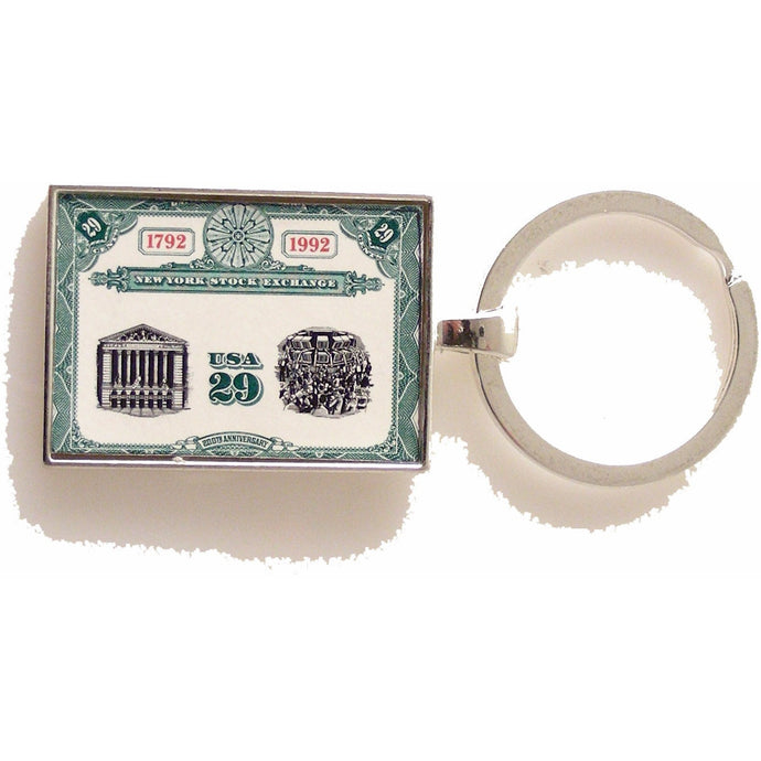 1992 NEW YORK STOCK EXCHANGE POSTAGE STAMP KEY RING New Orleans Cufflinks