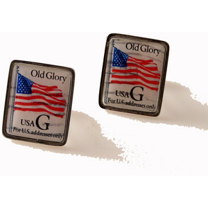 1995 OLD GLORY POSTAGE STAMP CUFFLINKS New Orleans Cufflinks