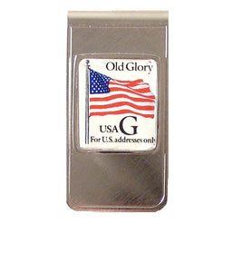 AUTHENTIC 1995 OLD GLORY POSTAGE STAMP MONEY CLIP