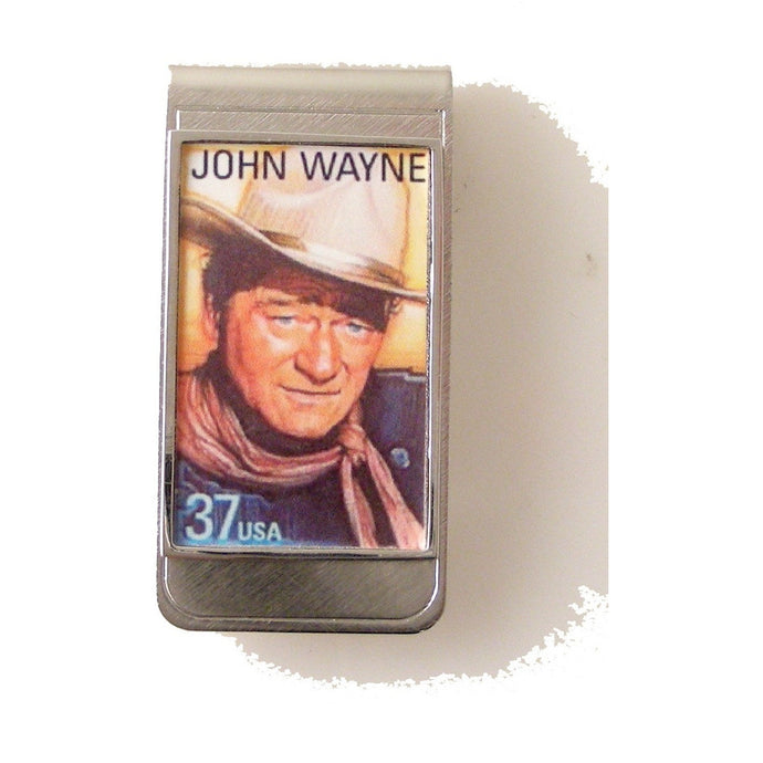 AUTHENTIC 2004 JOHN WAYNE POSTAGE STAMP MONEY CLIP New Orleans Cufflinks