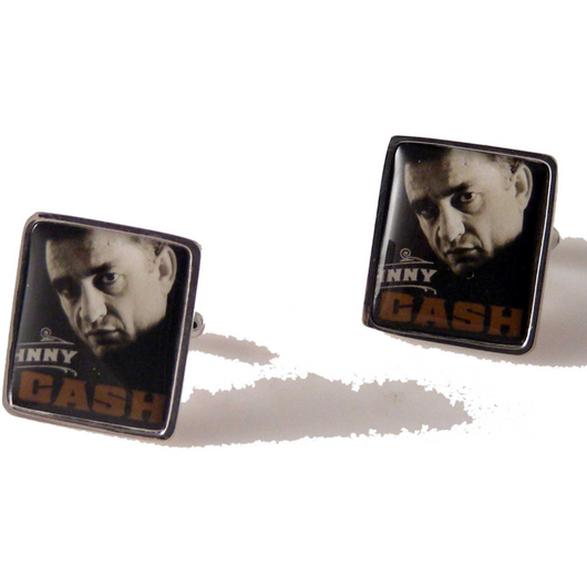 2013 JOHNNY CASH POSTAGE STAMP CUFFLINKS New Orleans Cufflinks