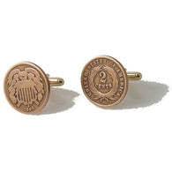 AUTHENTIC 2 CENT PIECE CUFFLINKS New Orleans Cufflinks