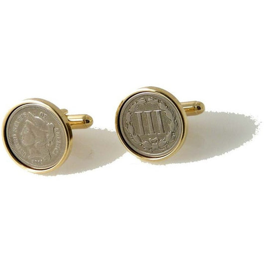 AUTHENTIC NICKEL 3 CENT PIECE CUFFLINKS New Orleans Cufflinks