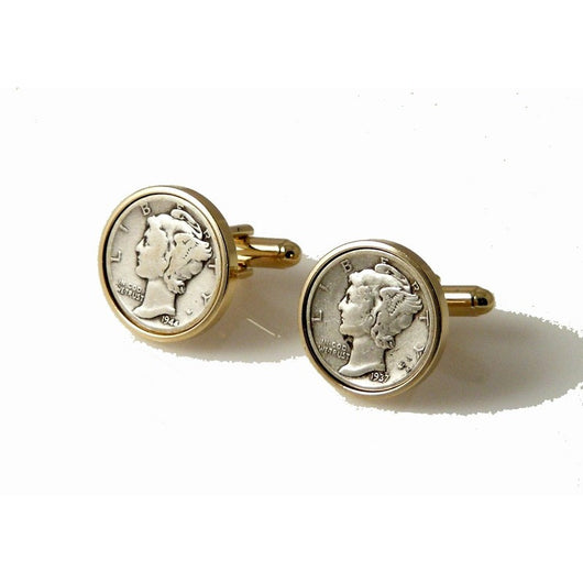 AUTHENTIC MERCURY DIME CUFFLINKS New Orleans Cufflinks