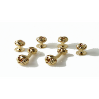 GOLD KNOT STUD SET New Orleans Cufflinks