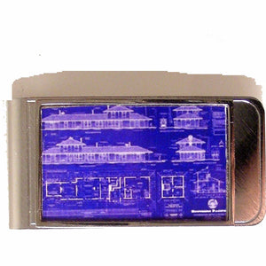 BLUE PRINT MONEY CLIP New Orleans Cufflinks