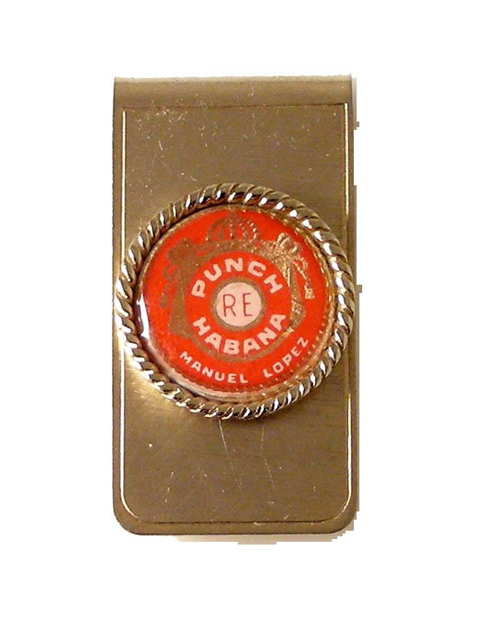 AUTHENTIC VINTAGE CUBAN CIGAR BAND MONEY CLIP NEW ORLEANS CUFFLINKS