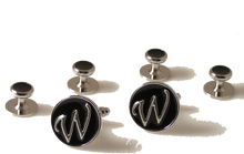 Load image into Gallery viewer, CUSTOM INITIAL CUFFLINKS AND STUDS