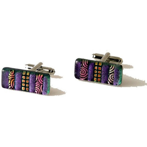 MIXED MEDIA HAND CRAFTED GLASS CUFFLINKS New Orleans Cufflinks